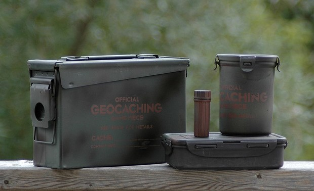 Here's what Geocaching containers look like...